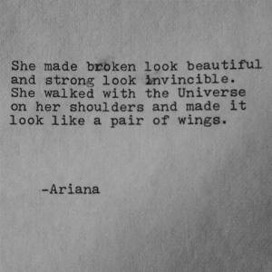 she made broken look beautiful