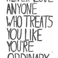 never love anyone...